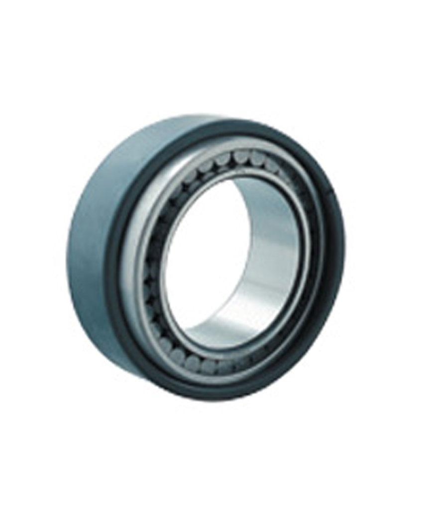 Cylindrical roller bearings with self-aligning rings