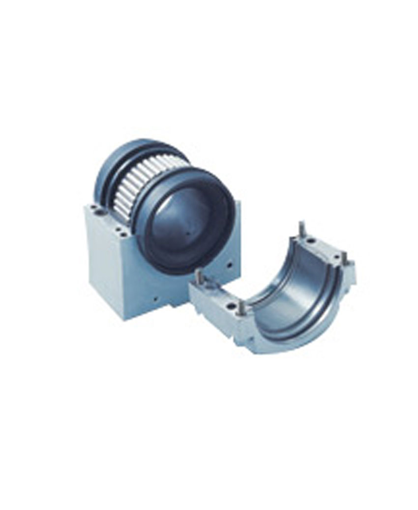 Split cylindrical roller bearings and water cooling jacket type housing